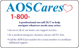 AOS Cares wallet card